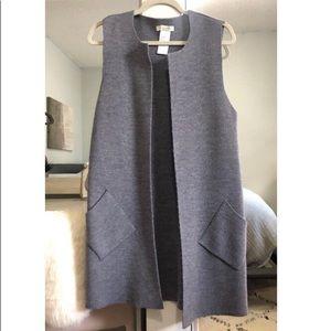 Cocogio merino wool blend long vest